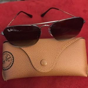 Ray-Ban Sunglasses new in box with leather case
